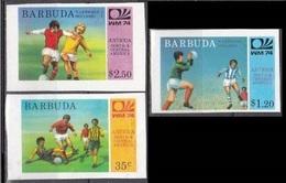 1974Barbuda175-177b1974 World Championship On Football Of Munich - World Cup