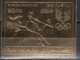 1972 MUNICH Ajman OLYMPIC MNH    4-2 - Fussball