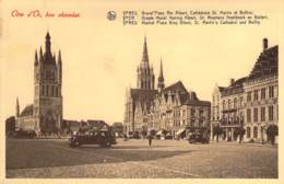 Ypres Grand'Place, Roi Albert, Cathédrale St. Martin Et Beffroi . - Ieper