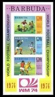 1974Barbuda175-177/B8b1974 World Championship On Football Of Munchen - Coupe Du Monde