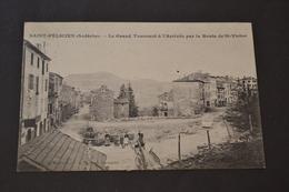 Carte Postale 1908 ST Félicien 07 Le Grand Tournant A L'arrivée Par La Route De St Victor - France