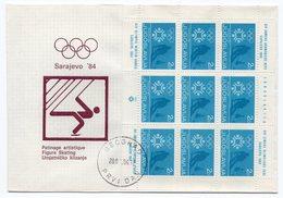 1984 YUGOSLAVIA, BOSNIA, SARAJEVO, OLYMPIC GAMES, EXTRA CHARGE STAMP, 2 DINAR, USED - 1945-1992 Socialist Federal Republic Of Yugoslavia