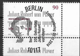 2014 Allem. Fed. Deutschland Germany Mi. 3110 FD-used Berlin EUR  200. Geburtstag Von Julius Robert Von Mayer - [7] Federal Republic