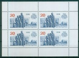DDR 1987 / MiNr.    3077   Kleinbogen   ** / MNH   (s337) - Blocks & Sheetlets