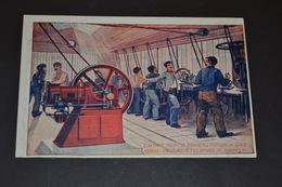 Carte Postale 1900 Pub Le Nouveau Moteur A Gaz - Bateaux