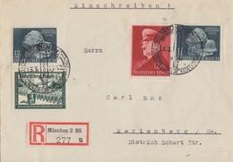 DR R-Brief Mif Minr.772,773,2x 812 SST München 15.3.42 - Briefe U. Dokumente