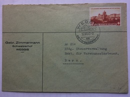 SWITZERLAND 1943 Cover Weggis Handstamp To Bern - Covers & Documents