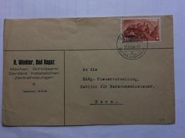 SWITZERLAND 1944 Cover Bad Ragaz Handstamp To Bern - Covers & Documents