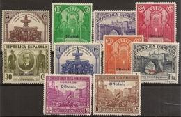 """Edifil 620/629* Mh  Postal Panamericano """"Oficial""""  Serie Completa  1931  NL519 - 1931-Hoy: 2ª República - ... Juan Carlos I"""