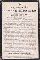 Torhout, Thourout, 1911, Edmond Cafmeyer, Deman - Devotieprenten