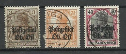 Latvia Lettland German Occupation Ober-Ost 1916/18 , 3 Stamps, O RIGA - Lettonie