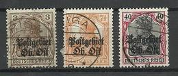 Latvia Lettland German Occupation Ober-Ost 1916/18 , 3 Stamps, O RIGA - Letland