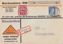 DR R-NN-Brief Mif Minr.791,829 Düsseldorf 24.2.43 - Allemagne