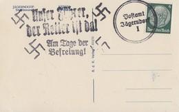 DR AK EF Minr.516 Befreiungsstempel Und Notstempel Postamt Jägerndorf - Briefe U. Dokumente