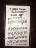 Sterbebild Wk1 Ww1 Bidprentje Avis Décès Deathcard VOGESEN Kriegsgefangener Clermont-Ferrand Aus Krumbach - 1914-18