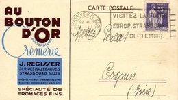 Publicité, Fromages, Au Bouton D'Or , Regisser à Strasbourg (67) - Publicité
