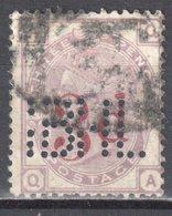 Great Britain 1883 - Queen Victoria, 3d On 3d - Perfin - Mi.70 - Wmk 11 - Crown - Used - Oblitérés