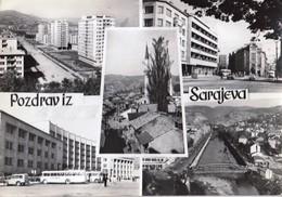 Bosnia And Herzegovina Sarajevo 1963 / Mosque, Panorama, Bridge, River / Pozdrav, Greetings - Bosnie-Herzegovine