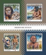 SIERRA LEONE 2018 - Prehistoric Humans. Official Issue. - Prehistorie
