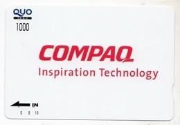 JAPON CARTE QUO PREPAYE COMPAQ - Publicité
