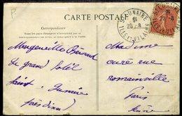 France Oblitération  St Lunaire (35)  Avec Levée Centrale,   Peu Courant - Marcophilie (Lettres)