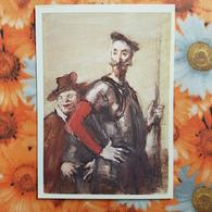 El Ingenioso Hidalgo Don Quijote De La Mancha Y Sancho Panza By Rudakov  - Old USSR Postcard - 1982 Rare! - Non Classés