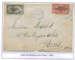 Congo Lettre Mindouli 1929 Cover - Congo Français (1891-1960)