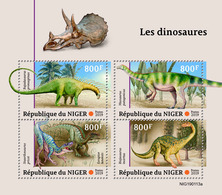 NIGER 2019 - Dinosaurs, Fossil. Official Issue - Fossielen