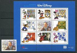 248 PORTUGAL 2001 - Yvert 2522 + 2523/30 - Cinema Walt Disney - Neuf ** (MNH) Sans Trace De Charniere - Neufs