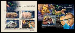 NIGER 2019 - Meteorites, Dinosaurs M/S + S/S. Official Issue - Postzegels