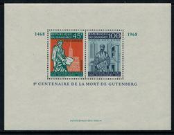 Dahomey 1968 // 5ème Centenaire De La Mort De Gutenberg Bloc-feuillet Neuf** MNH No.13 Y&T - Bénin – Dahomey (1960-...)