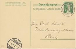 SCHWEIZ  MiNr. P 41 I, Mit Stempel: Rothenbrunnen 4.IV.1912 - Ferrocarril