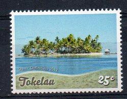 TOKELAU - SCENIC - DEFINITIVES - VALIDITE PERMANENTE - PAYSAGE - ARBRES - TREES - LAGOON - LAGON - 2012 - 25ç - - Tokelau