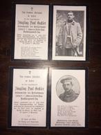 Sterbebild Wk1 Ww1 Bidprentje Avis Décès Deathcard Schwere Reiter Regiment 1 TOBOLA  Wolka PINSK Aus Wolfratshausen - 1914-18