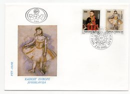 YUGOSLAVIA, FDC, 02.10.1992, COMMEMORATIVE ISSUE: JOY OF EUROPE - 1992-2003 Federal Republic Of Yugoslavia