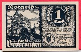 Allemagne 1 Notgeld De 1 Mark Stadt Bederungen Dans L 'état (RARE) N °3482 - 1918-1933: Weimarer Republik