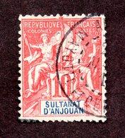 Anjouan N°14 Oblitéré TB Cote 30 Euros !!!RARE - Anjouan (1892-1912)