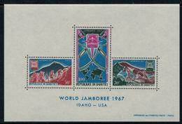 Dahomey 1967 // World Jamboree 1967  IDAHO-USA Bloc-feuillet Neuf** MNH No.9 Y&T - Bénin – Dahomey (1960-...)
