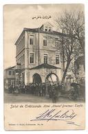 """OLD POSTCARD """" SALUT DE TREBIZONDE - HOTEL """" CHEMS """" DIRECTEUR : TEVFIK , 1904 , OSTERREICHISCHE POST . - Turkije"""