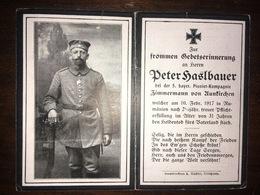 Sterbebild Wk1 Ww1 Bidprentje Avis Décès Deathcard 5. PIONIER Kompagnie Rumänien 10. Februar 1917 Aus Aunkirchen - 1914-18