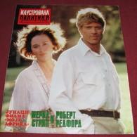 Meryl Streep And Robert Redford  ILUSTROVANA POLITIKA Yugo October 1986 RARE - Magazines