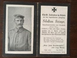 Sterbebild Wk1 Ww1 Bidprentje Avis Décès Deathcard RIR3 THELUS 9. April 1917 Aus Neustadl - 1914-18