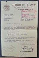 Lettre AUTOMOBILE-CLUB DE L'OUEST LE MANS COLIS Prisonnier De Guerre STALAG XVIII A > CAEN Juillet 1942 - Marcophilie (Lettres)