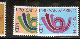SAN MARINO 1973 Europa Scott Cat. No(s). 802-803 MH - Europa-CEPT