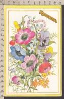 93520GF/ FLEURS, Illustration Signée, Carte Pop Up - Fleurs
