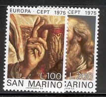 SAN MARINO 1975 Europa Scott Cat. No(s). 858-859 MNH - Europa-CEPT
