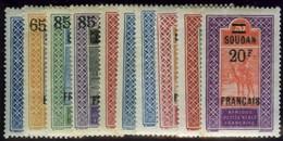 French Sudan. Sc #51-60. Mint. VF. - Sudan (1894-1902)