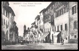 MARINO  - ROMA - INIZI 900  - CORSO VITTORIO EMANUELE E PALAZZO MEDIOEVALE - ANIMATISSIMA! - Roma