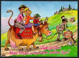C4737 - Alm Taxi - Humor Scherzkarte - Humor