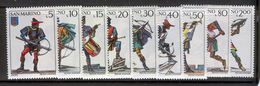 SAN MARINO 1973 Crossbow Tournament Scott Cat. No(s). 819-827 MNH - Unused Stamps